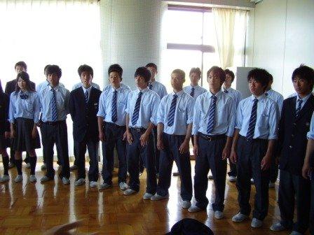 合唱大会前日::浜松市立高等学校