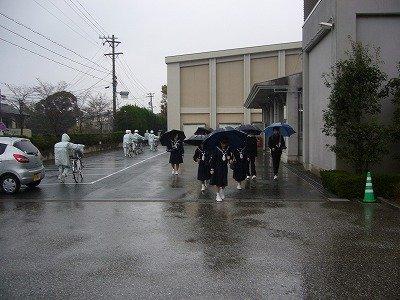 自転車通学者も傘が必要です。::浜松市立湖東中学校 浜松市立湖東中学校 ... <